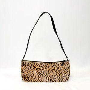 KATE SPADE Calfskin Leopard Handbag Leather Strap